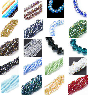 10Strds Crystal Glass Beads Rondelle Faceted Tiny Loose Bead Beading Craft 6x4mm