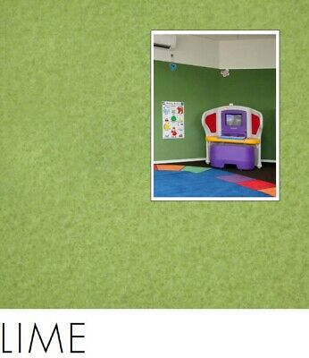 FreePost 2.16 sqm GREEN (Lime Grn03) Acoustic Fabric Peel n Stick Wall Tiles