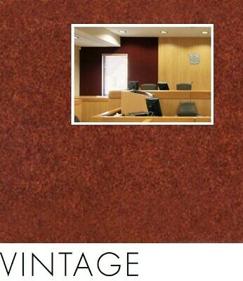 FreePost 2.16 sqm RED (Vintage Red05) Acoustic Fabric Peel n Stick Wall Tiles