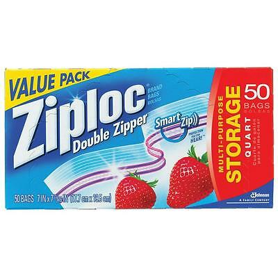 Ziploc Heavy Duty Double Zipper Quart Storage Bags Freezer Bags Ziplock Genuine
