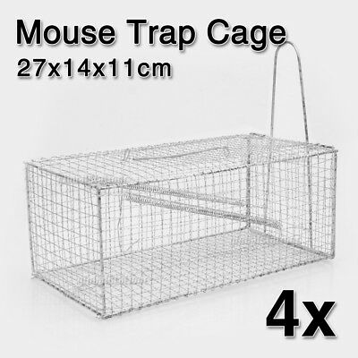 4x Humane Rat Trap Cage Animal Pest Rodent Mice Mouse Control Live Bait Catch