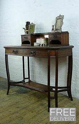 An Art Nouveau Influenced Eight Legged Walnut Writing Desk C1900