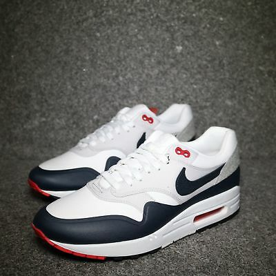 """Nike Air Max 1 V SP """"Patch"""" White Obsidian University Red"""