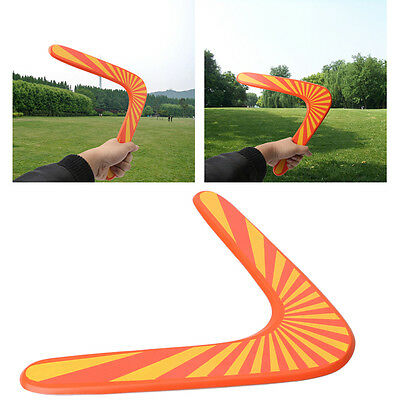 Wooden Boomerang classic V shape Frisbee Flying Saucer Toys child outdoor toys