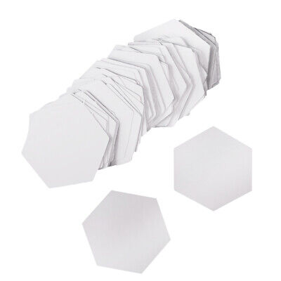100Pieces 26mm Hexagons Paper Quilting Templates Paper Piecing Quilting Tool