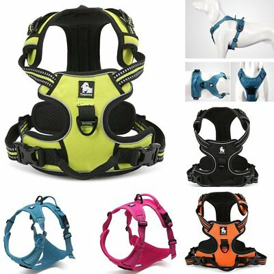No-pull Dog Harness Reflective Outdoor Soft Mesh Padded Adventure Pet Vest 3M