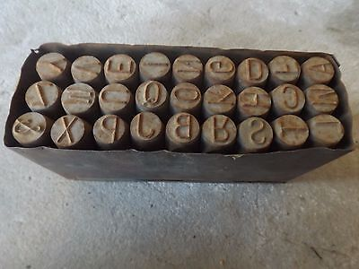 """Metal Stamps  Letter set 12mm-1/2"""" English made"""