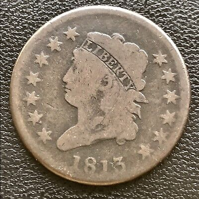 1813 Large Cent Classic Head One Cent 1c #6083