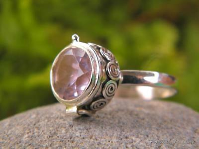 Pink Kunzite & 925 SOLID Silver RING (Size 8 1/2, Q 1/2)