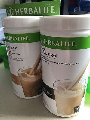 Herbalife 2 Pack Formula 1 Shakes NEW - Cappuccino And Cookie & Cream Flavours
