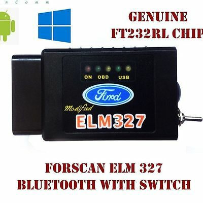 Forscan Elm327 Bluetooth/Wireless Switch OBD2 Can Bus Scanner Diagnostic Tool