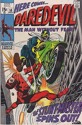 Daredevil The Man Without Fear #58 1969 Silver Age Marvel Comics Group
