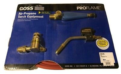 Goss Air Propane Soldering Heating Torch Kit LP Regulator BP-15LPM Igniter Tip