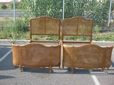 Vintage Cane French Single Beds