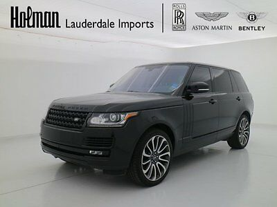 """2016 Land Rover Range Rover SUPERCHARGED LONG WHEEL BASE 2016 16 RANGE ROVER SUPERCHARGED LONG WHEEL BASE * 22"""" WHEELS * VISION PACK * FL"""