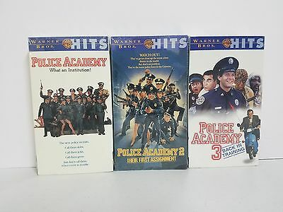 NEW Police Academy 1, 2, & 3 VHS Video Cassette Tapes