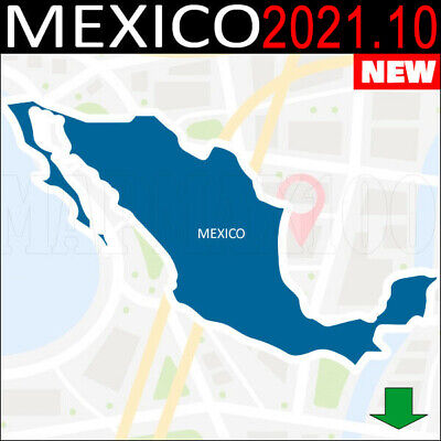 Mexico Maps Gps 2018.20 3D For Garmin Devices  - Latest Map -