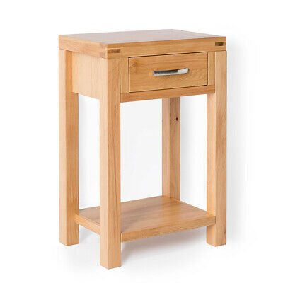 Abbey Light Oak Small Hall Table / Telephone Table / Solid Wood Console / New