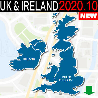 Uk And Ireland Navigation Maps Gps 2019.20 For Garmin Devices