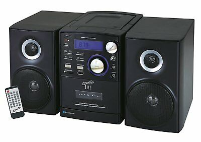 SuperSonic USB MP3 CD Radio Cassette Player Recorder w/ Bluetooth & SD Aux Input