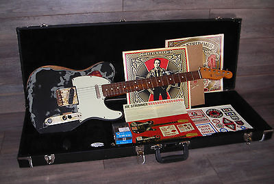 2007 Fender Telecaster Joe Strummer Relic with OHSC / Stencils and Decals