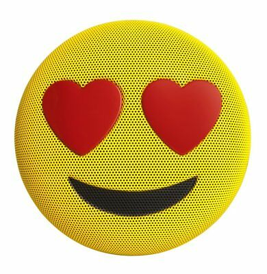 "Homedics Jamoji Wireless Bluetooth Portable Speaker ""Love Struck"" Emoji - Yellow"