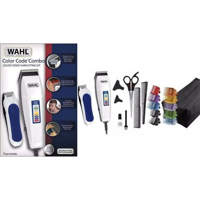 Brand New 20 pc Wahl Color Pro Color Code Haircut Kit Model Combo