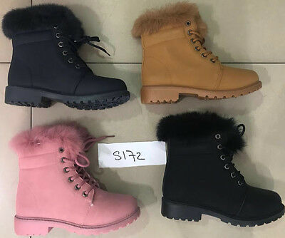 Wholesale Joblot Ladies Women Leather Look Wedge Shoes Boots 1Box of 12 pairs