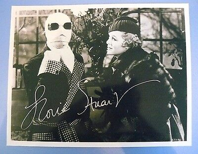 THE INVISIBLE MAN 8 x 10 B&W PHOTO Signed/Autographed By GLORIA STUART