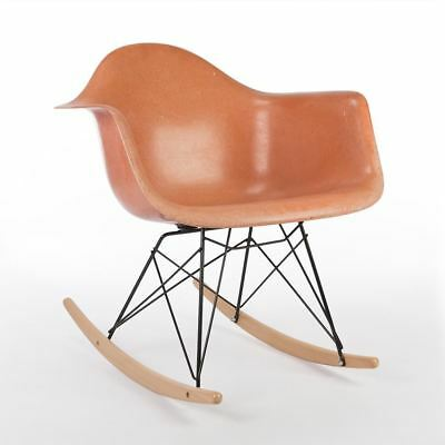 Salmon Herman Miller Vintage Original Eames RAR Rocking Arm Shell Chair