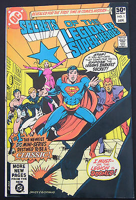 Secrets of the Legion Super-Heroes #1,#2,#3  VF 1981 Lot of 3 High Grade DC Book