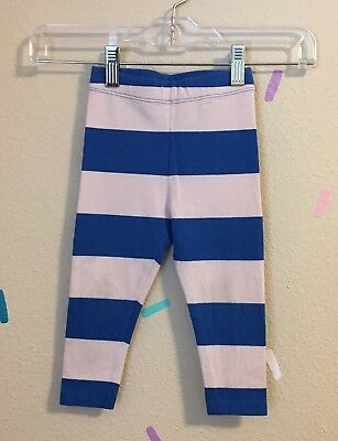 Tinycottons Leggings Tiny Cottons Big Stripe Pink Blue Stretch SS17 Size 2 Years