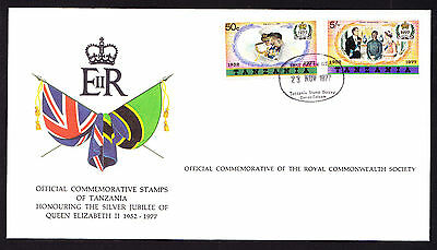 Tanzania stamps on Union Jack National Flag Royal QEII cover 1977 Silver Jubilee
