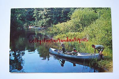 Canoeing at OWASIPPE Scout Reservation, MI postcard, circa 1968