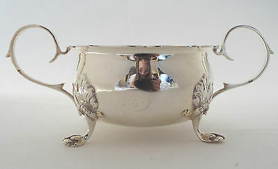 Bowl Jacobean Revival Solid Sterling Silver Lion Paw Feet Joseph Gloster 1961