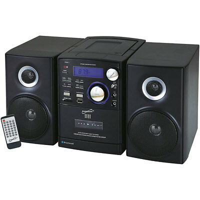Supersonic SC-807 Micro Stereo System w/ Bluetooth, MP3, CD & USB Inputs - Black