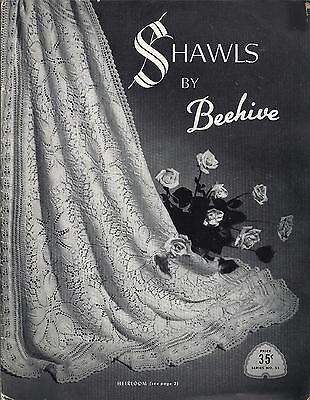 Rare Vintage Shawls By Beehive Knitting & Crochet Booklet No.55