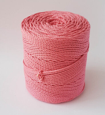 3mm cotton cord DIY rope macrame cord 918 feet macrame rope twisted knot rope