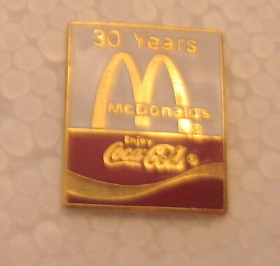 Vintage McDonald's Coca-Cola 30 Years Pin