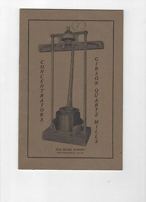 Vintage Company Product Guide for Gibson Gold Quartz Mills and Concentrators