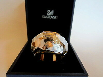Swarovski Signed Crystal Nirvana Wide Band Ring in Box sz 8