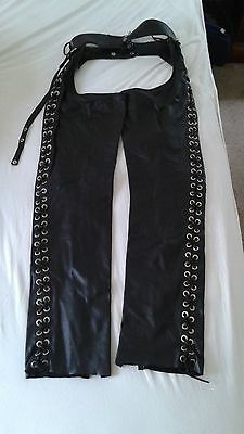 Black Leather Adult Chaps