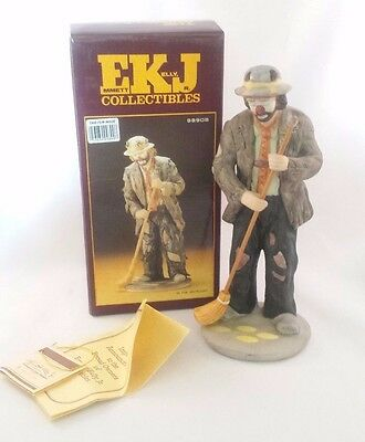 Emmett Kelly Jr Signature Collection IN THE SPOTLIGHT Hobo Clown Signed 1986 Box