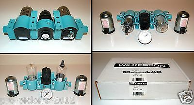 NEW Wilkerson Series A C16-02-000 Filter Regulator Lubricator System with Gauge
