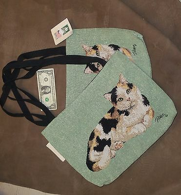 Calico Cat Tapestry Tote by Linda Pickens