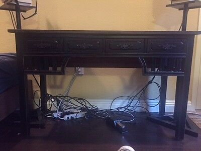 Vintage / Antique Black Desk with Cherry Top