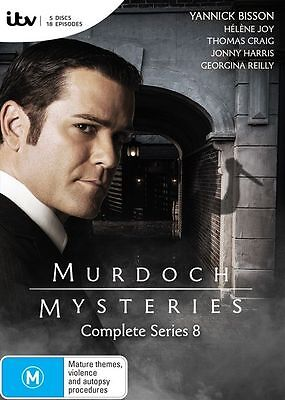 Murdoch Mysteries : Season 8 (DVD, 2015, 5-Disc Set) Brand New (D115/D164)