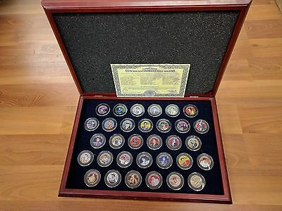 Elvis Presley JFK Kennedy Elvis Movies Half Dollar Coin Set Of 32