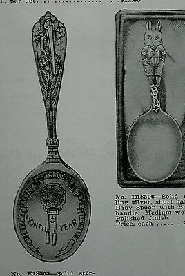 Vintage ad 1936 Sterling Silver Baby Sets spoon rattle teething ring advertising