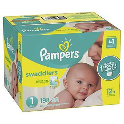 ***NEW*** Pampers Swaddlers Diapers Size 1, 216 count ***FREE SHIPPING***